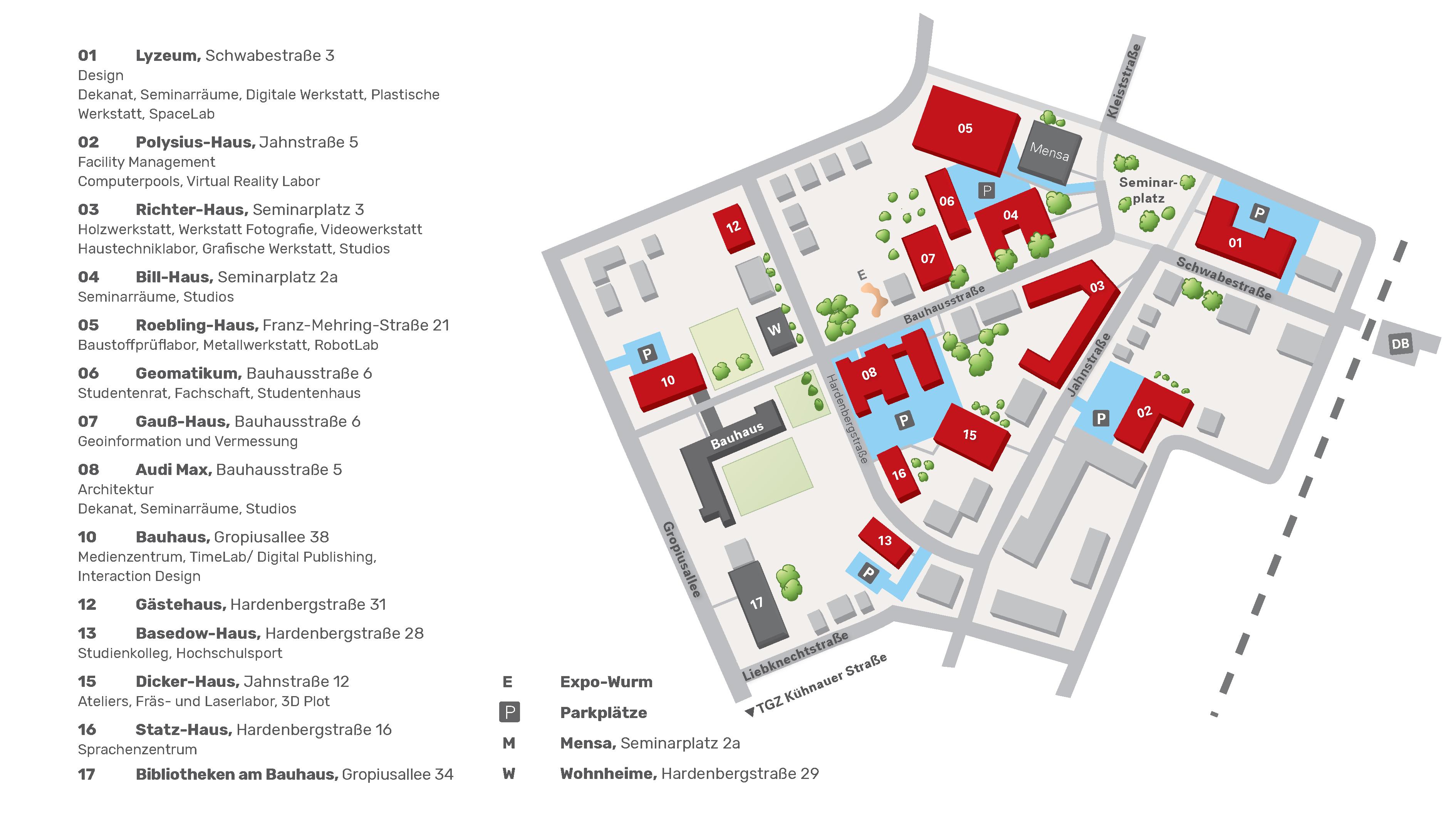 Campusplan Dessau