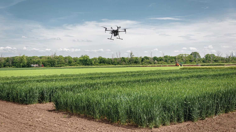 Drohne macht Luftaufnahmen