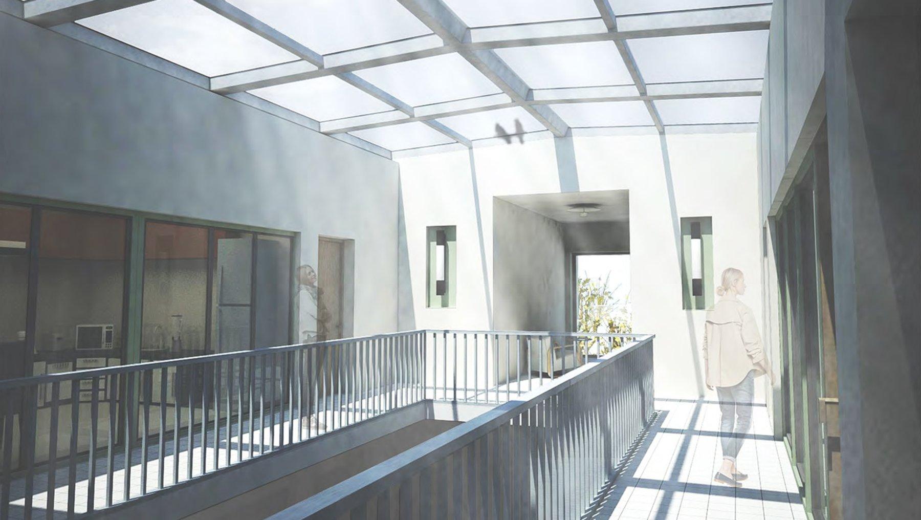 Mut zur Lücke - Visualisierung Innenraum