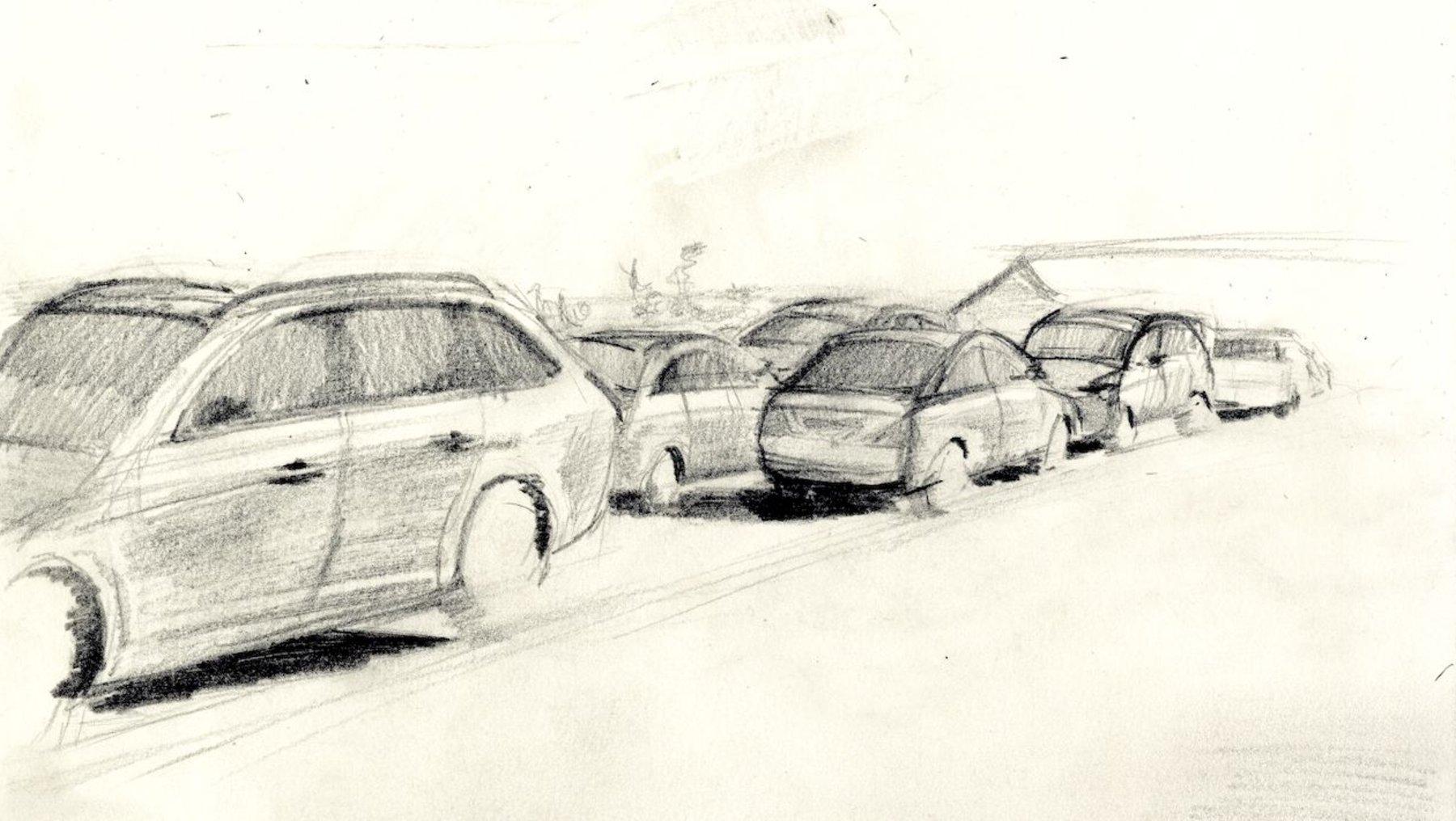 Zeichnung Autos - Melina Rocke