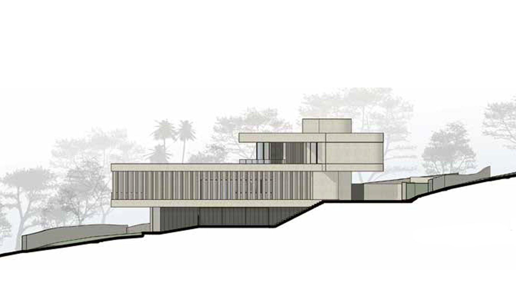 "Mehmet Caferoglu ""V-Shaped Villa - With Extensive City Views"""
