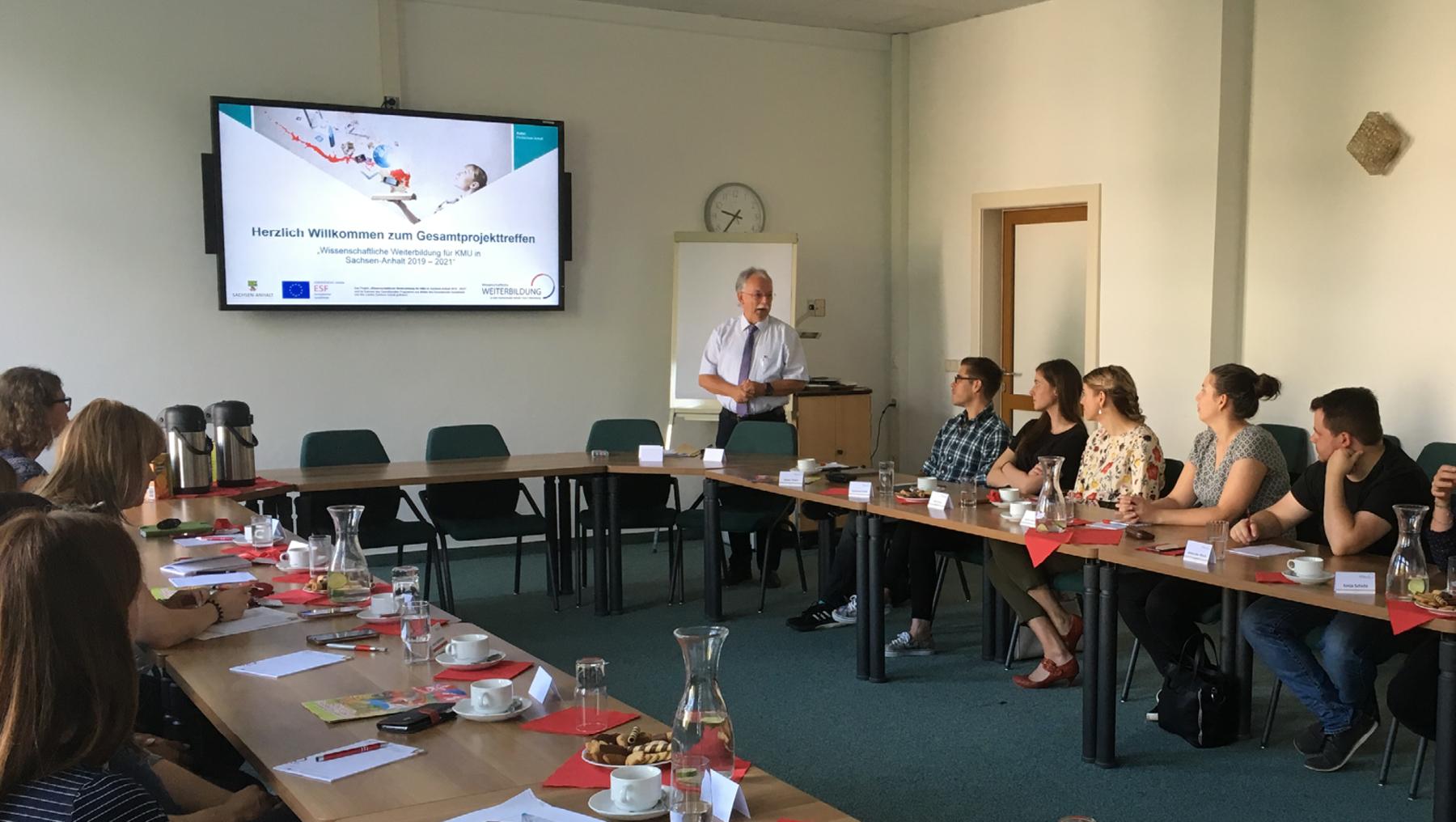 """Start neue Projektphase """"Wissenschaftliche Weiterbildung für KMU in Sachsen-Anhalt 2019 - 2021"""""""