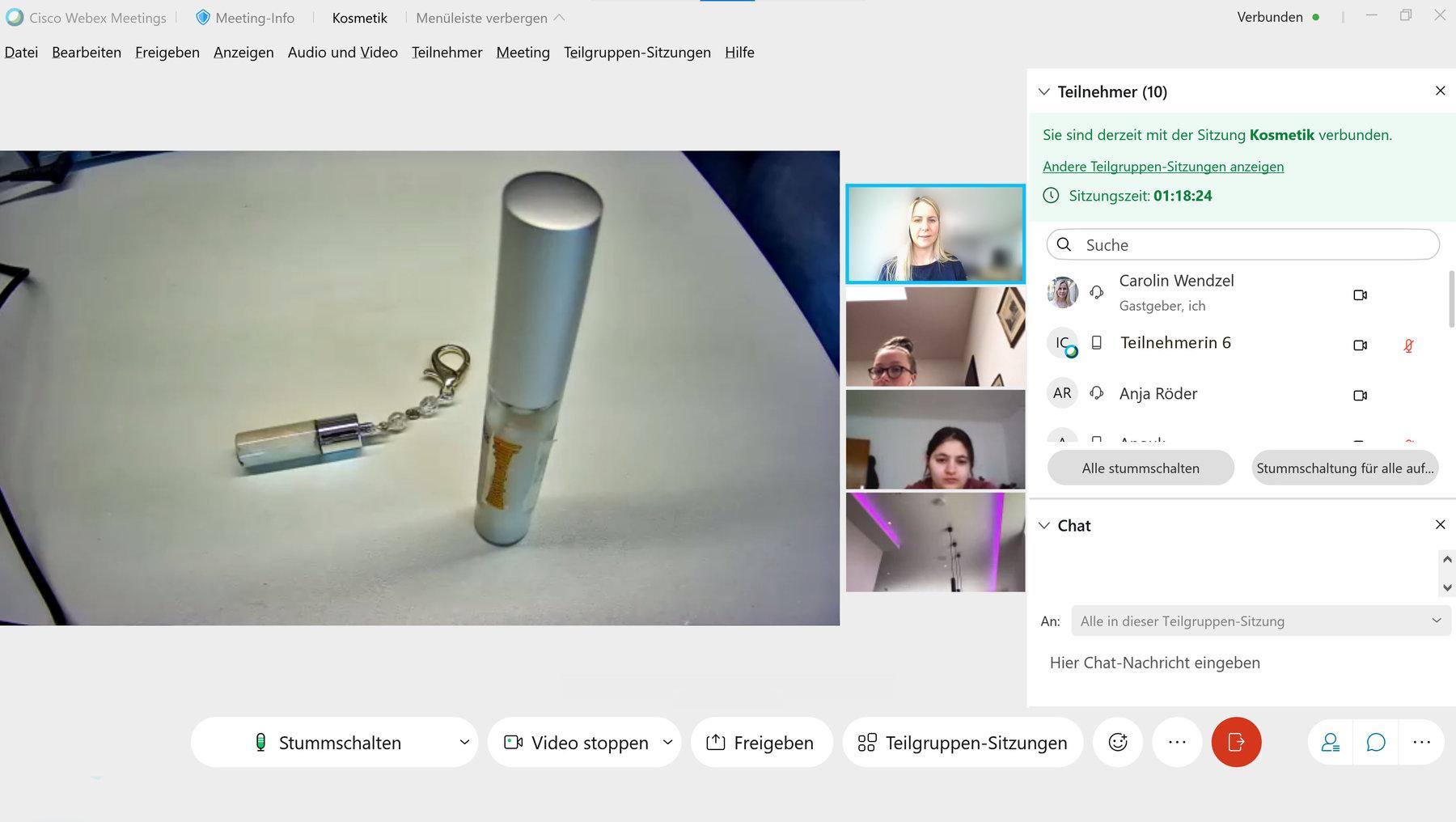 "Screenshot des digitalen Girls'Day-Angebots ""Kosmetik selbst gemacht"""
