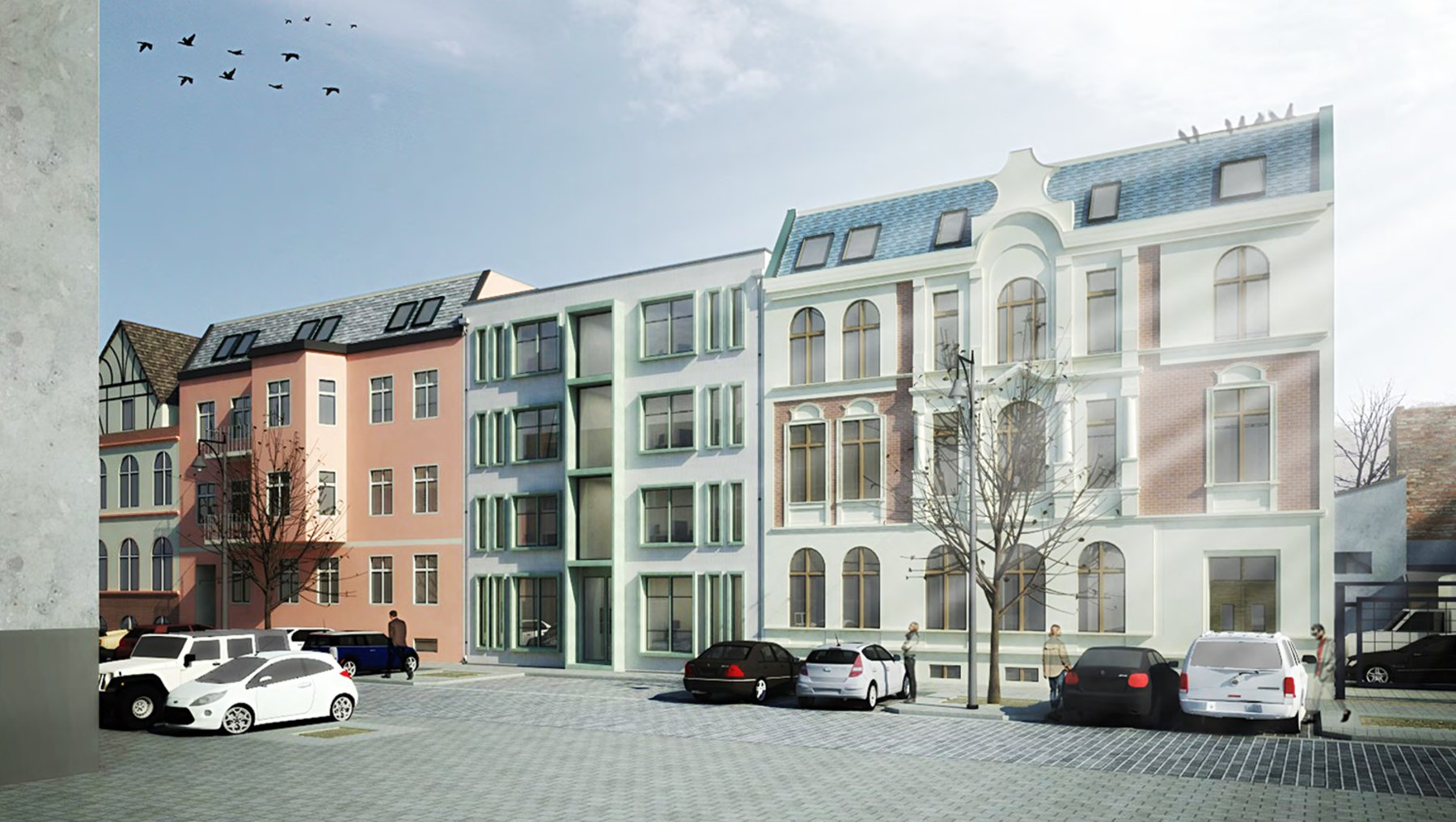 Entwurf von Li Shuan - Visualisierung Fassade zur Goethestraße
