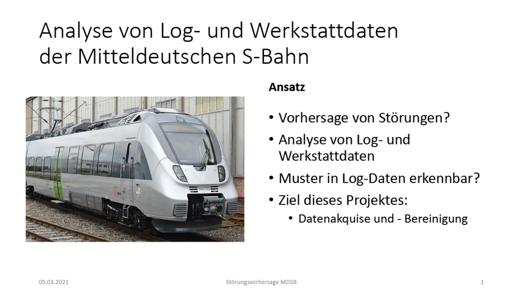 Folien-Screenshot mit dem Bild einer S-Bahn von Bombardier und Text
