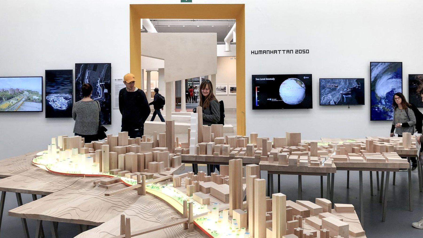 Projektarbeiten zum Städtebau im Pavillon auf dem Gelände der Giardini