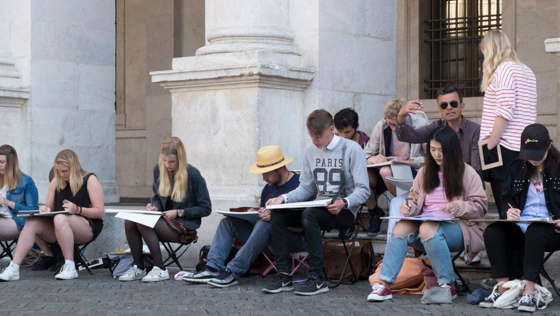 Architekturzeichnen in Bergamo